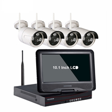 CCTV Wireless System Outdoor 10.1 Inch LCD Monitor 4CH NVR 1080P Security WIFI CCTV Camera System