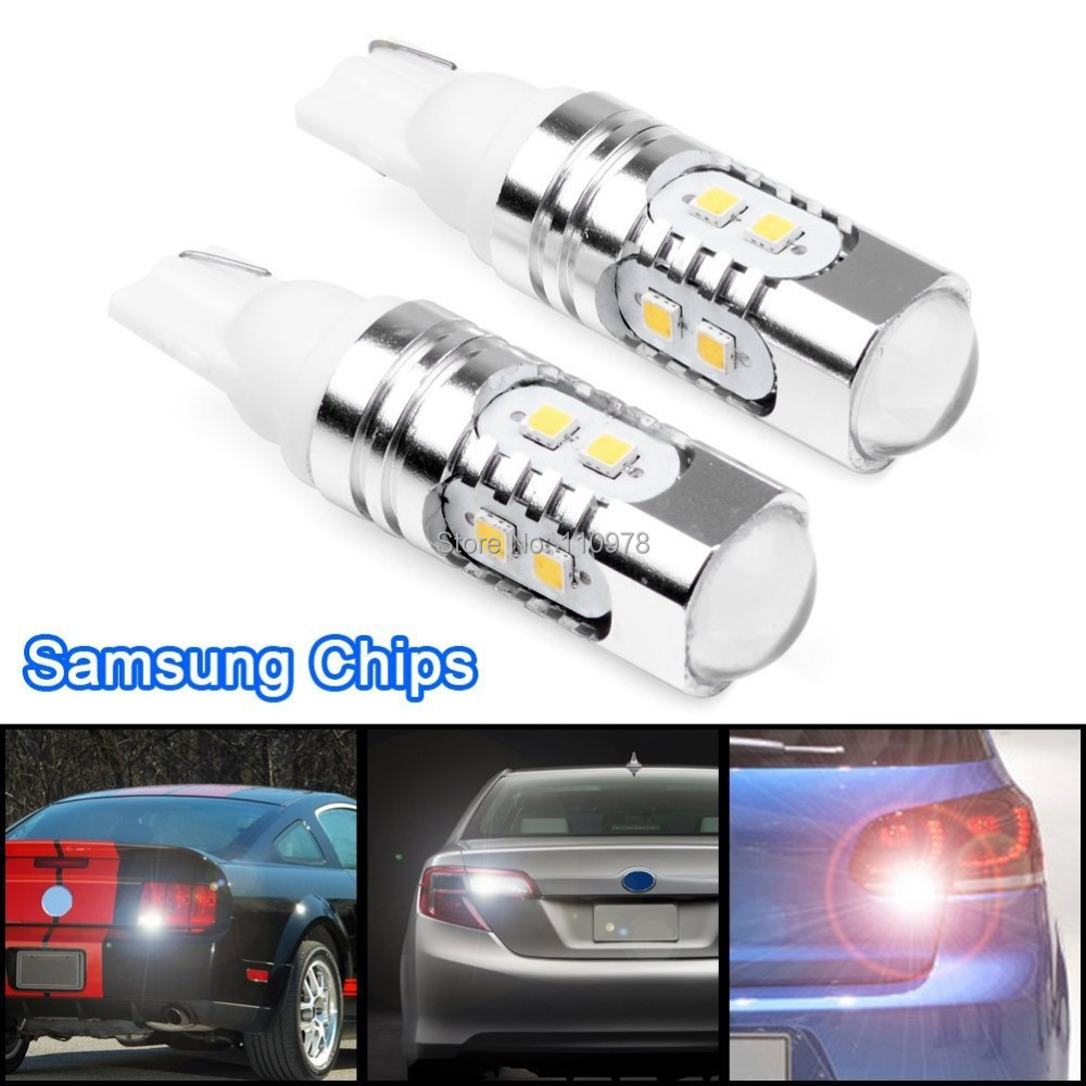 2pcs 6000K Xenon White 921 T10 T15 SAMSUNG 2323 SMD LED Backup Reverse Light Bulb Car SUV Pickup Truck Same Bright As Cree Chip