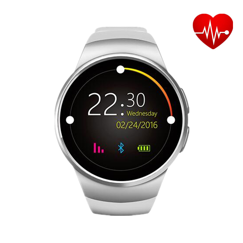 2016 Newest Sport Smart Watch KW18 Heart Rate IPS Screen bluetooth smartwatch Fitness Tracker App For IOS Android mp3 Free ship 2016 newest sport lady smart watch lem2 full ips screen bluetooth girl smartwatch fitness tracker app for ios android pk m8 lem1