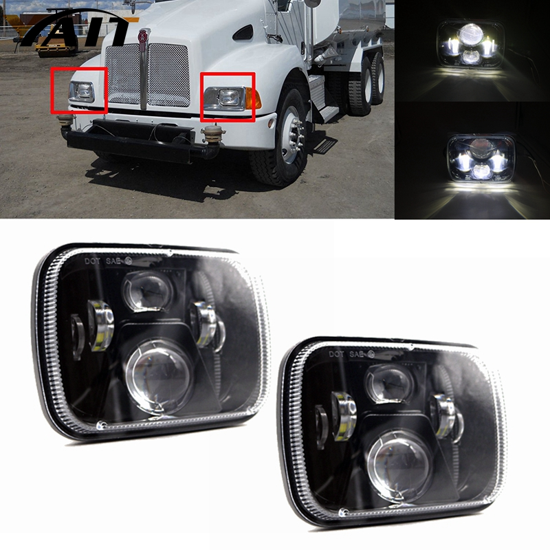2pcs Yait 5 x 7 LED Replacement Headlamp Off Road LED Headlights for Jeep Wrangler YJ Cherokee XJ headlamp Led High Low Beam 2pcs brand new high quality superb error free 5050 smd 360 degrees led backup reverse light bulbs t15 for jeep grand cherokee