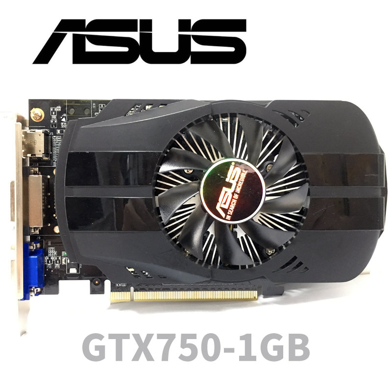 Asus GTX-750-FML-1GB GTX750 1GB 1G D5 DDR5 128 Bit PC Desktop Graphics