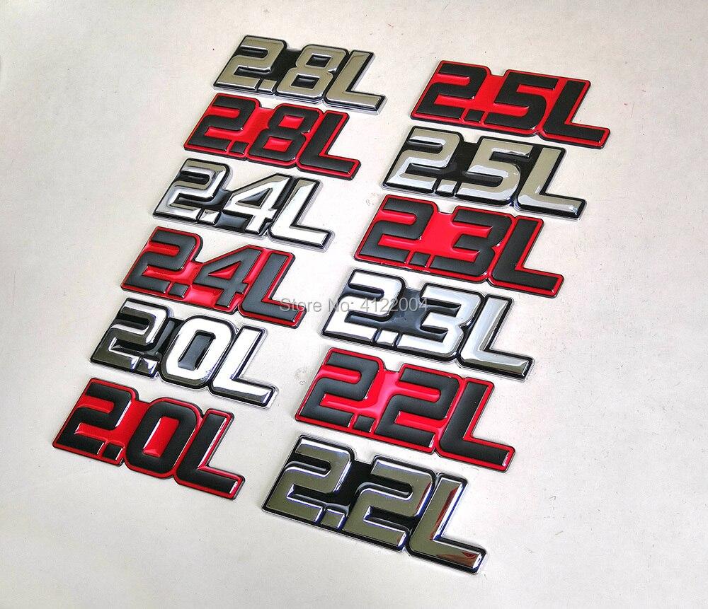Энергетическая Эмблема для багажника, наклейка для TOYOTA, HONDA, MITSUBISHI, VOLVO, GEELY, CHERY, HAVAL, Dodge JAGUAR, 2.0L, 2.2L, 2.3L, 2.4L, 2.5L, 2.8L