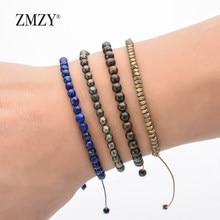 ZMZY Boho Handgemachte Natürliche Stein Armband Frauen Minimalismus Armband Freundschaft Perlen Armband Urlaub Geschenk Schmuck Dropshipping