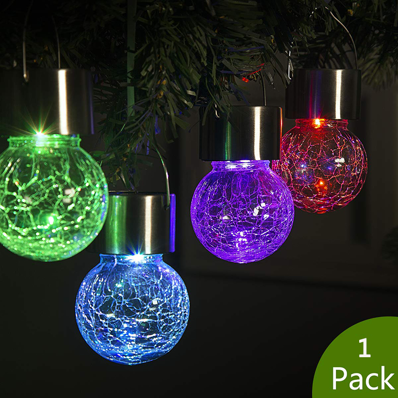 4 PK Waterproof Outdoor LED Hanging Solar Lanterns Lights Yard Garden Lamp Decor