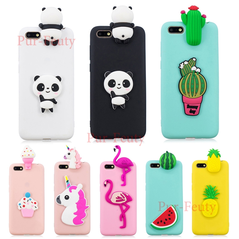 case for Huawei <font><b>Honor</b></font> <font><b>7A</b></font> 5.45'<font><b>DUA</b></font> <font><b>L22</b></font> LX2 Cute <font><b>3D</b></font> Ice-cream Doll Unicorn Cactus Fruit Soft Silicone TPU <font><b>Honor</b></font> A7 <font><b>DUA</b></font>-<font><b>L22</b></font> <font><b>DUA</b></font>-LX2 image