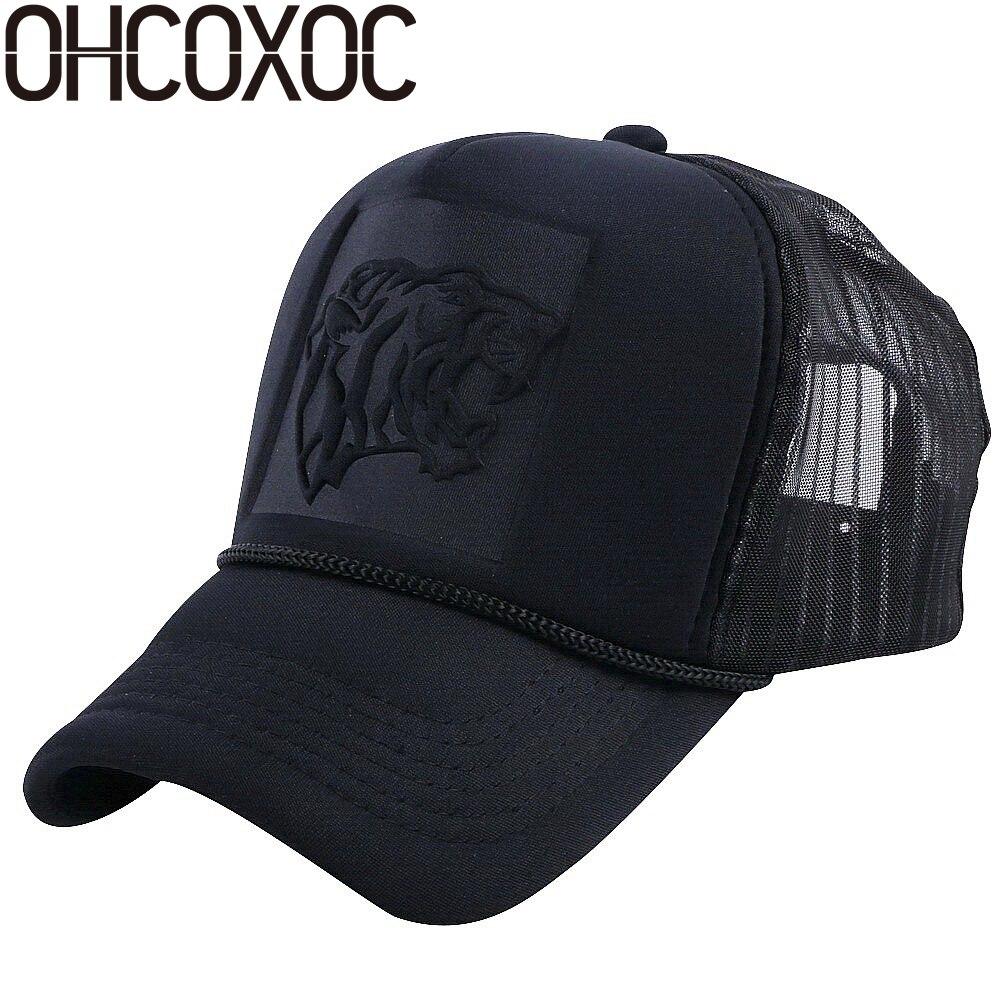 OHCOXOC women men summer baseball cap hat designer pattern mesh net trucker  style outdoor caps girl boy sports caps c4dd22dc226