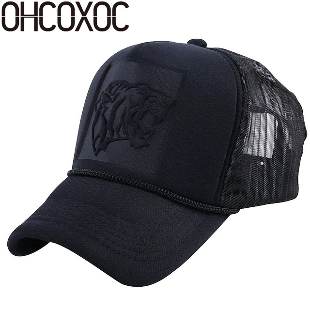 OHCOXOC women men summer baseball cap hat designer pattern mesh net trucker style outdoor caps girl boy sports caps