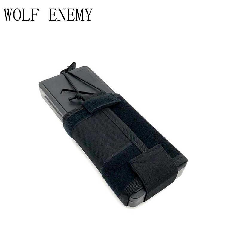Soporte de carcasa de Radio táctica al aire libre, funda de Walkie Talkie, bolsa de Molle ajustable, tapa de tetera abierta, bolsa Mag