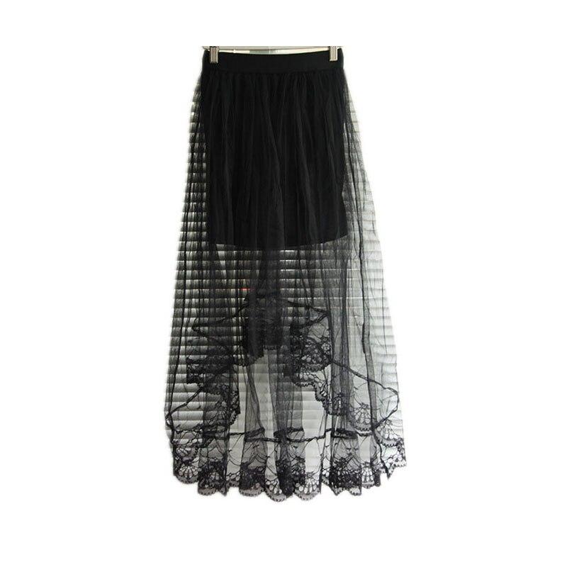 Tulle Skirt Women 2017 Fashion Ladies Summer Chiffon Lace High ...