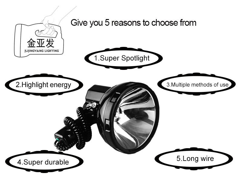 Высокая мощность ксеноновой лампы Открытый Ручной Охота и рыбалка патрульная машина 220W h3 HID прожекторы 160 Вт грыжи прожектор 12v