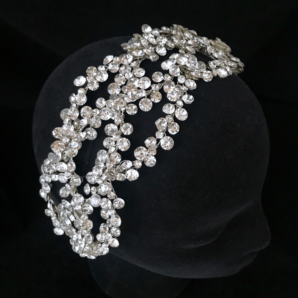 Luxury Crystal Silver Golden Crown Tiara Bigger Custom Made Rhinestones Royal Queen Princess Pageant Party Crown