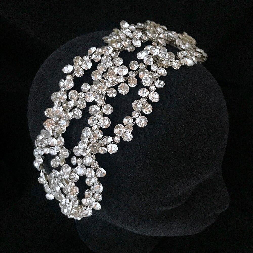 Lujo cristal plata/corona dorada Tiara más grande hecho a medida diamantes de imitación real reina princesa desfile fiesta corona damas de honor-in Joyería para el cabello from Joyería y accesorios on Aliexpress.com | Alibaba Group