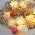 LED Christmas Lights At The Window For Street Garland New Year Christmas Decor 20pcs Rose 2.2m Battery Operated String Light
