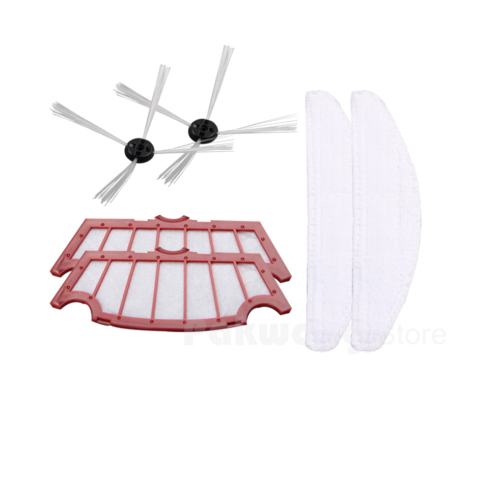Double Pieces of Original A320 Robot Vacuum Cleaner HEPA Filter, Side Brush and Mop 4pcs a lot diy plastic enclosure for electronic handheld led junction box abs housing control box waterproof case 238 134 50mm
