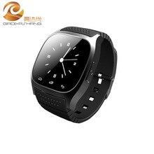 M26 Smart Bluetooth Uhr Smartwatch mit Led-anzeige Alitmeter Musik-player Schrittzähler Thermometer für Android IOS Handy