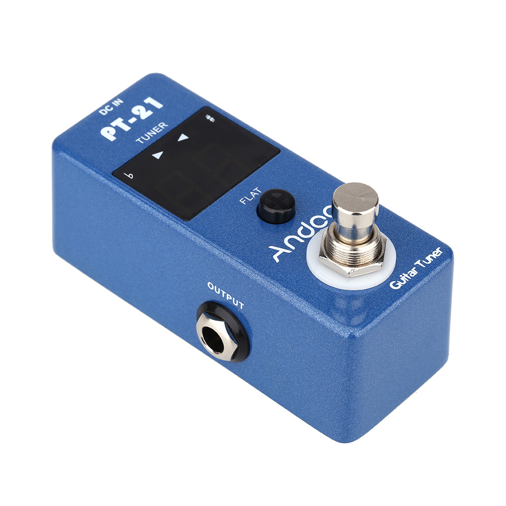 andoer guitar tuner pedal true bypass blue universal compact professional in guitar parts. Black Bedroom Furniture Sets. Home Design Ideas