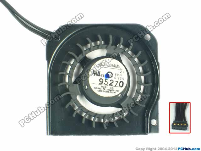 Free Shipping For MCF-809AM05 DC 5V 0.23A 4-wire 4-pin Server Bare fan