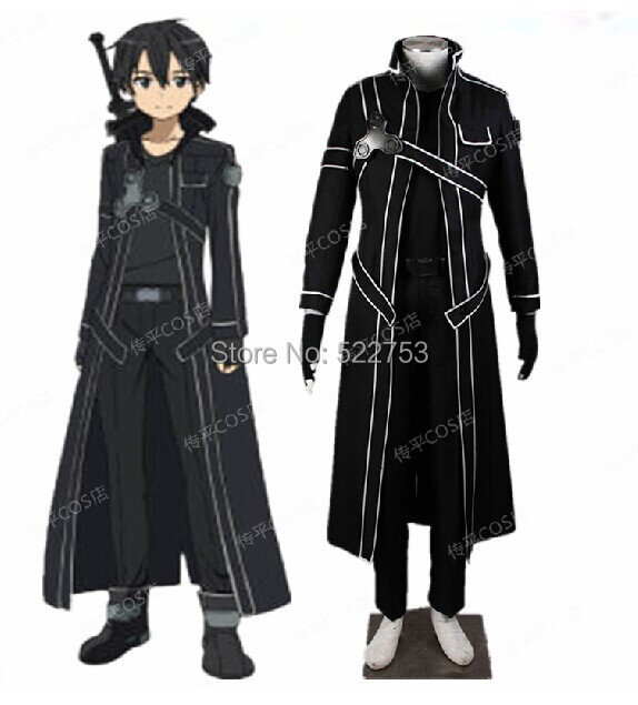 8bb5ba6b20c12 US $89.0  Free shipping New Custom made High quality Sword Art Online  Kirito Cosplay Costume-in Anime Costumes from Novelty & Special Use on ...