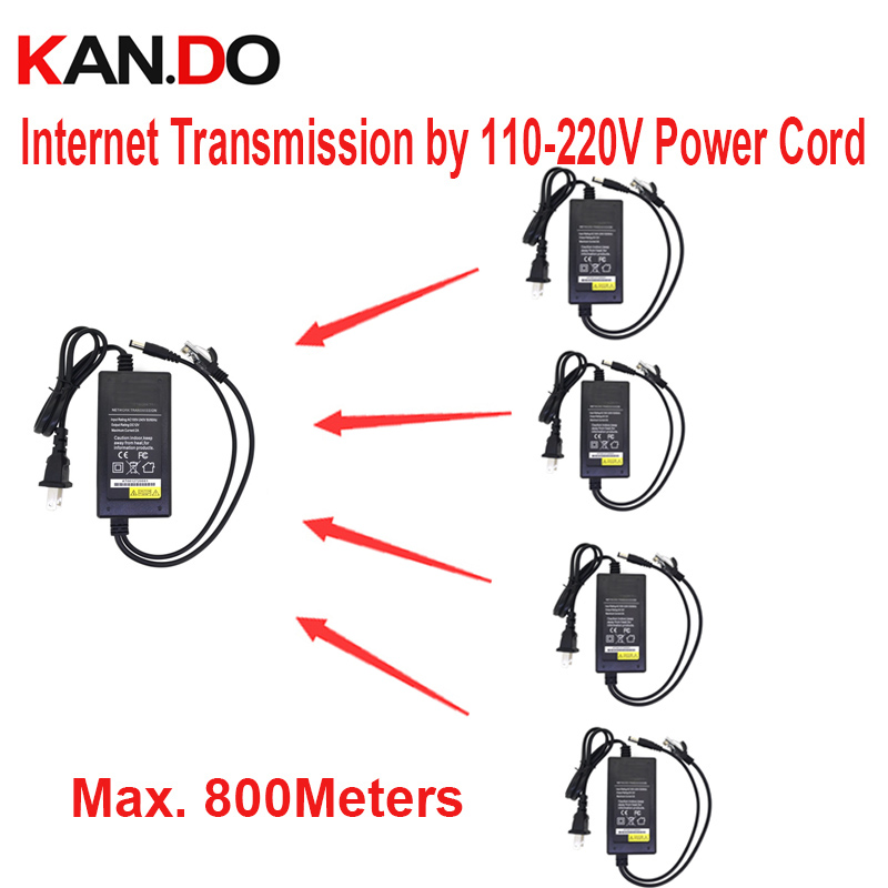 PLC DC 12V 2A power adaptor 500mbps network transmission by 220V cord TO 800m DC 12V