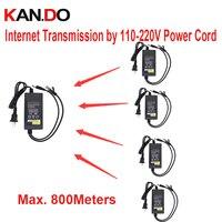 PLC DC 12 V 2A zasilacz 500 mbps transmisji sieci przez 220 V przewód DO 800 m DC 12 V zasilania dla cctv kamera sieciowa trasmitter