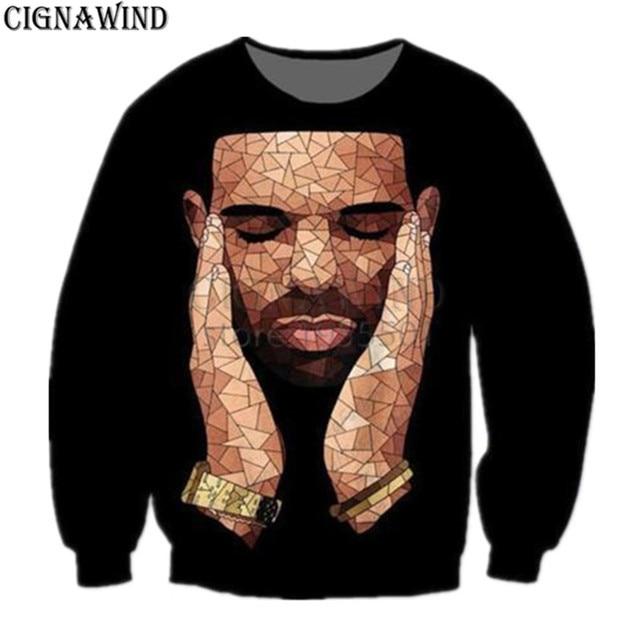 8d3b1666135a New Harajuku style Rapper Drake hoodie men women Sweatshirt 3D printed Sweatshirts  Long sleeves hip hop Streetwear tops