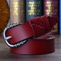 2017 mujeres de piel de vaca Mujeres de Las Señoras de Las Correas de Cuero cinturones de Moda cintura para womeo estilo correa de Las mujeres correa de cuero