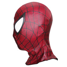 2019 Halloween Party Spandex Spider Man Masks Spiderman Face Black Red Mask for Birthday Gifts