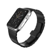 Nuevo cierre de mariposa de acero inoxidable sólido 316l pulsera para apple watch pulsera del acoplamiento 38mm 42mm