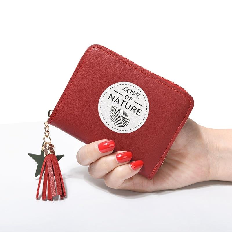 79ffdbd9df ONLVAN 2018 Νέο Υπέροχο γυναικείο φερμουάρ Hasp Δερμάτινο πορτοφόλι ...