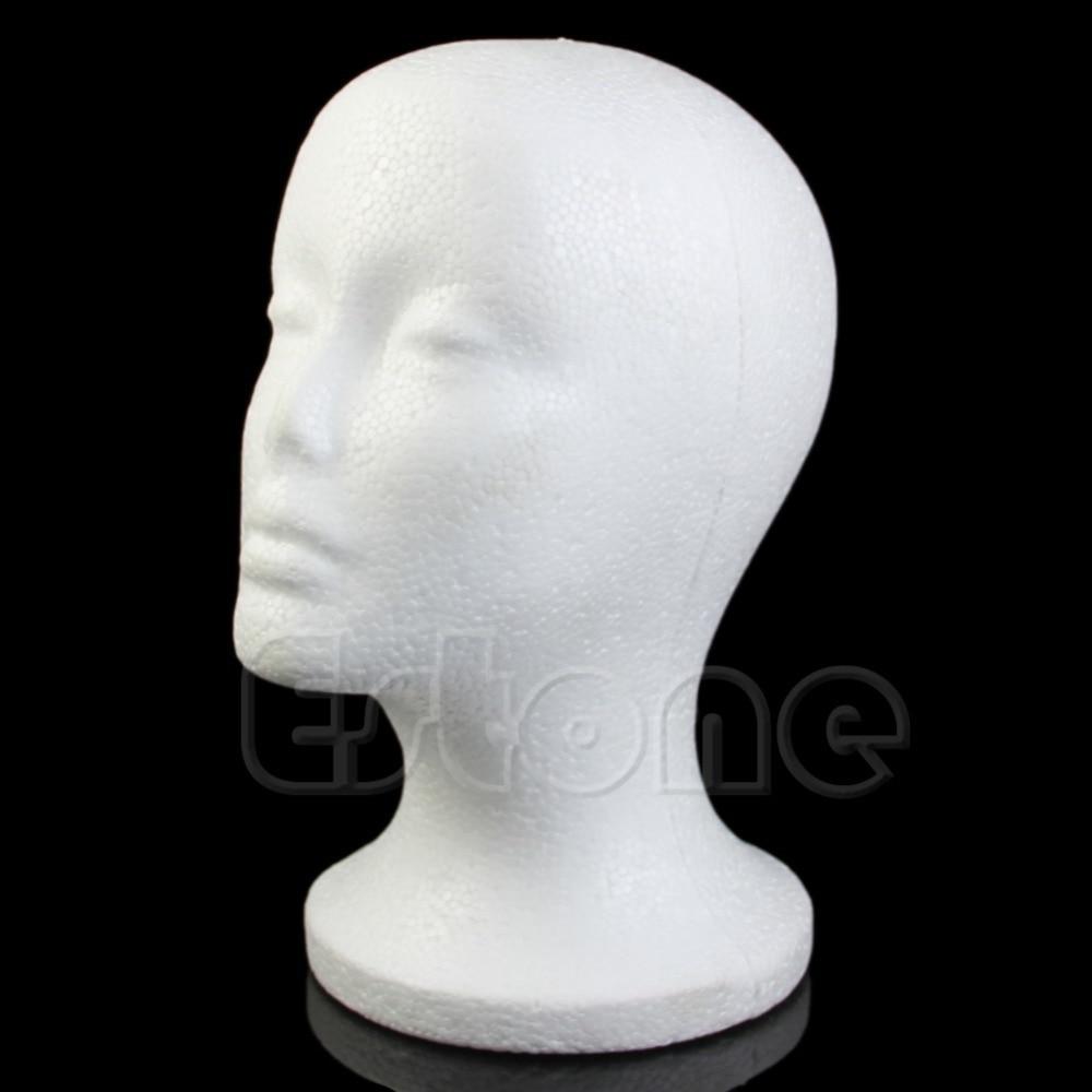Female Styrofoam Foam Mannequin Manikin Head Model For Wig hair Hat Glasses Display