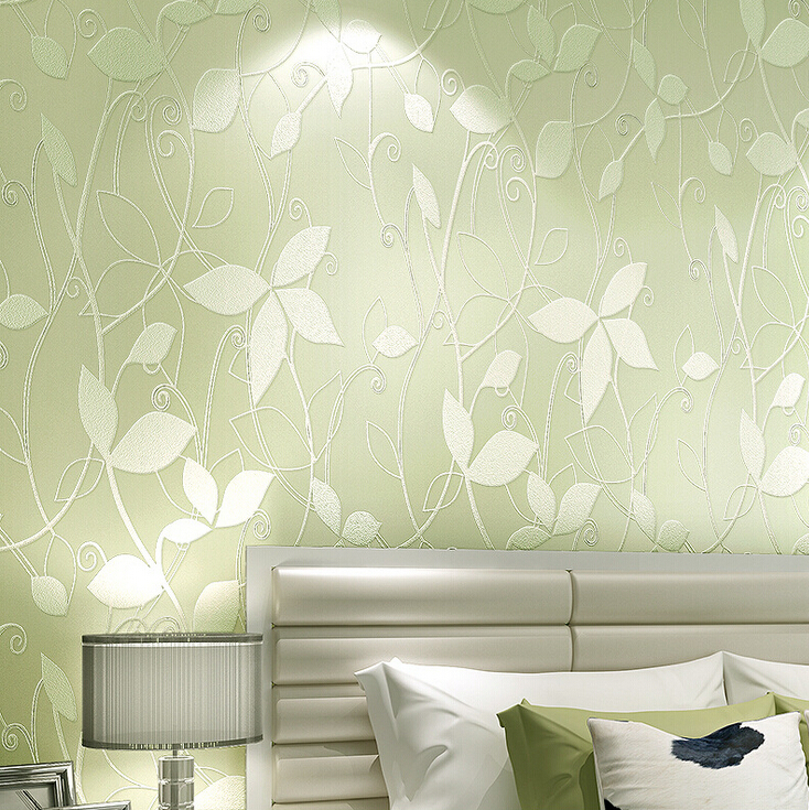 Modern Floral Leaf Background Wallpaper 3D Embossed Non