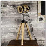 L89 American exploration floor lamp stage lamp photographic light tripod modern simple living room bedroom table lamp
