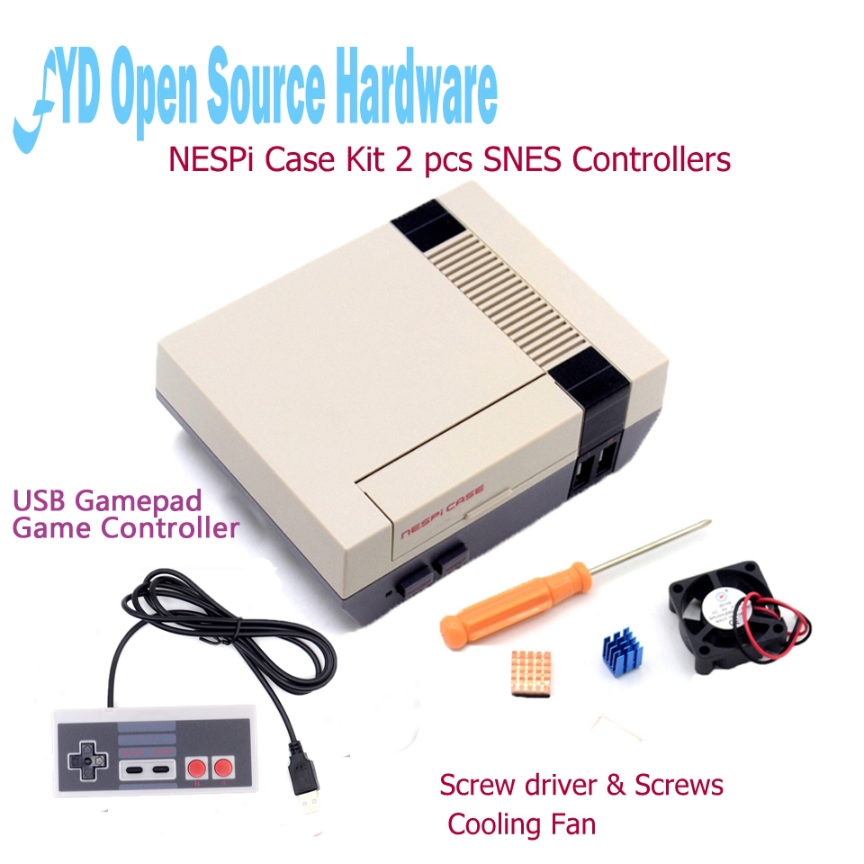 Mini NESPI Case Retroflag Kit with Fan + Optional SNES / Turbo / 2.4G Wireless Game Controllers for Raspberry Pi 3/2/B+Mini NESPI Case Retroflag Kit with Fan + Optional SNES / Turbo / 2.4G Wireless Game Controllers for Raspberry Pi 3/2/B+