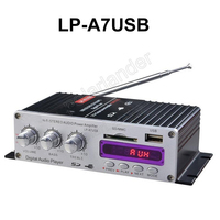 2015 New 12V Mini Car Lepy HI FI Digital A7 USB FM Digital Power Amplifier Small
