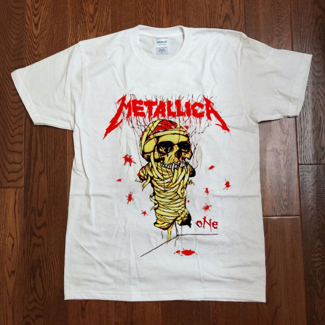 bbe5a86a RePrint Vintage Metallica One T-shirt 1988 and Justice for All Tour Metal  Band Print Cotton High Quality Top Tee T Shirt