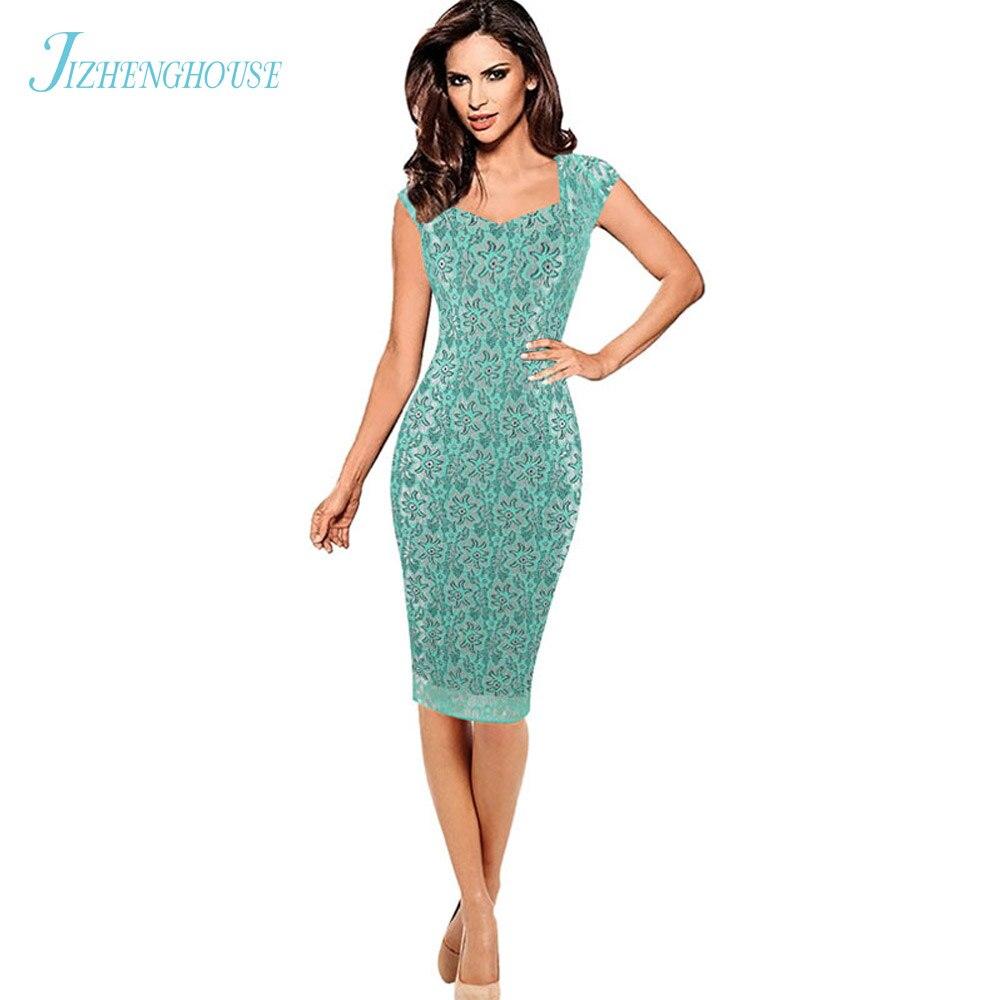 JIZHENGHOUSE Womens Elegant Lace Ruched Cap Sleeve Ruffle Casual ...