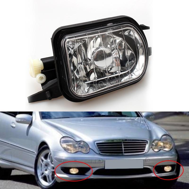 2038201756 For Mercedes Benz W203 C-Class C320 C240 C230 C350 C280 Pair L +R Bumper Fog Light Lamp Foglight No Bulb 1 pcs right side 2048202256 front fog lamp with bulb bumper light for mercedes benz c class w204 2006 2011