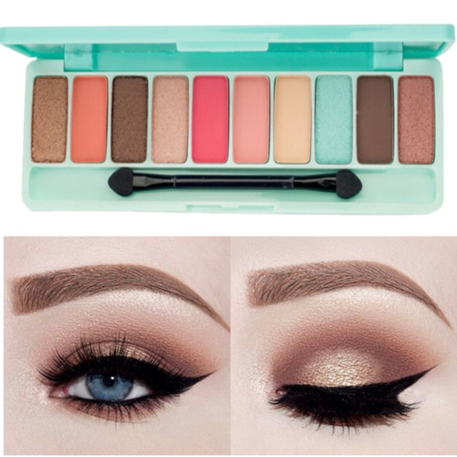 GIVENONE 10 Colors Fashion eyeshadow palette Matte EyeShadow palette Glitter eye shadow MakeUp Nude MakeUp set Korea makeup 3