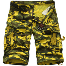 Summer 2018 Multi-pocket cargo Shorts Fashion Men Casual Camouflage cotton Military Loose Tooling Size 29-38 No Belt