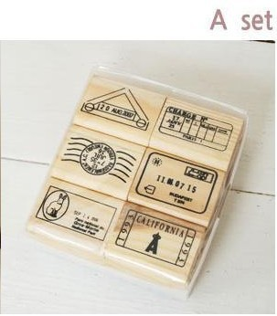 6pcs/set Top Quality Beautiful Design Vintage travel Wooden Rubber Stamp Scrapbooking Craft Diary Postcard DIY Set Decor A Style цифровая камера other great create lisa pavelka rubber stamp set exotique strip