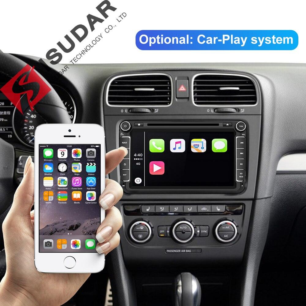 Lecteur multimédia de voiture Isudar Android 9 GPS 2 autoradio Audio Auto pour VW/Volkswagen/POLO/PASSAT/Golf 8 cœurs RAM 4G USB DVR - 3