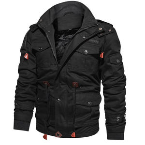 Image 1 - 2020 New Arrival Mens Winter Fleece Jackets Warm Hooded Coat Thermal Thick Outerwear Male Military Jacket Mens Brand Clothing