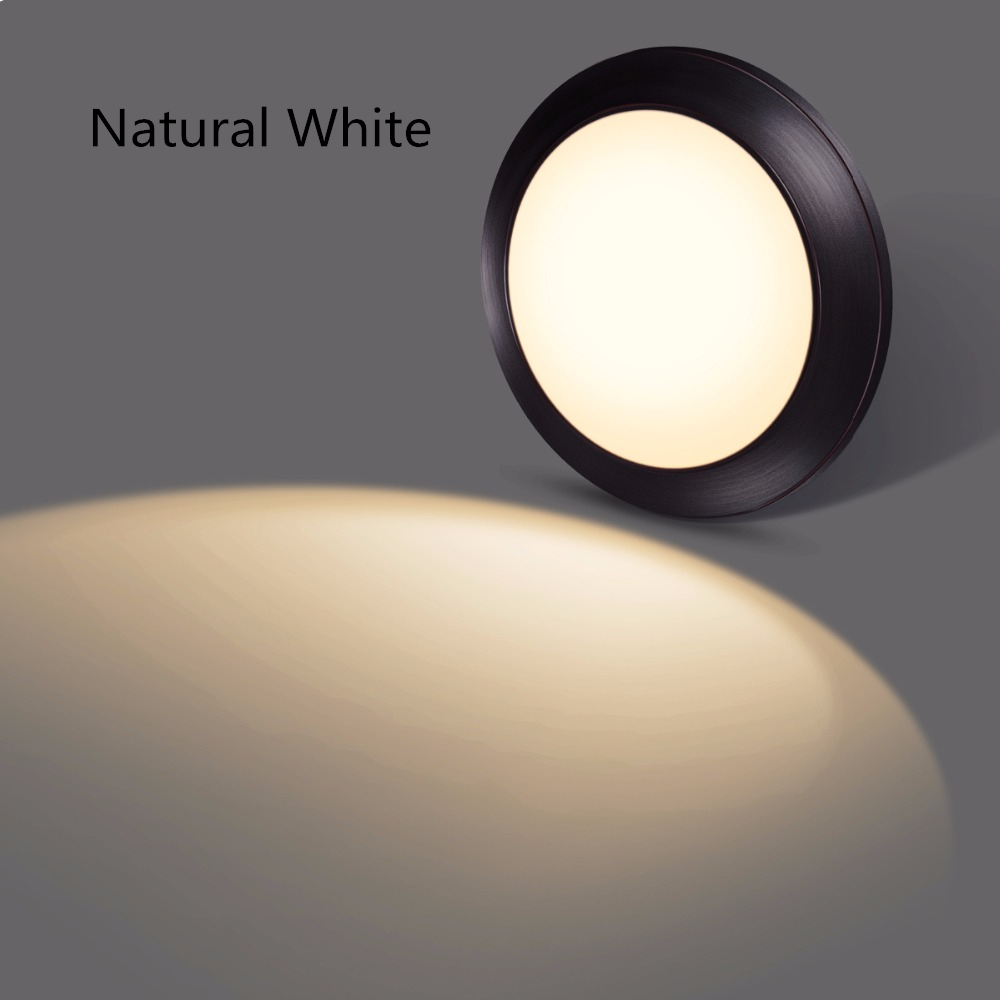 SOLLA Ceiling Light LED lamp 15W Warm White Natural White Bronze Finish Ultra-Thin Round For Living Room modern indoor lamp lan mu led ceiling lamp octopus light