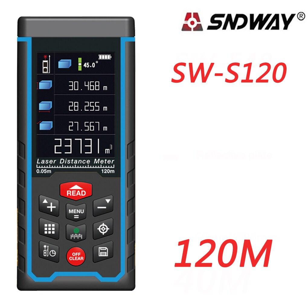 SNDWAY SW-S120 SW-S80 Лазерный дальномер Finder Открытый 80 м 120 м W-камера Перезаряжаемые Цвет ЖК-дисплей измерения инструменты