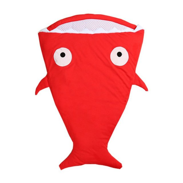 Brand New Baby Sleeping Bag Cute Cartoon Shark Winter Baby Sleeping Sack Warm Baby Blanket Warm Swaddle