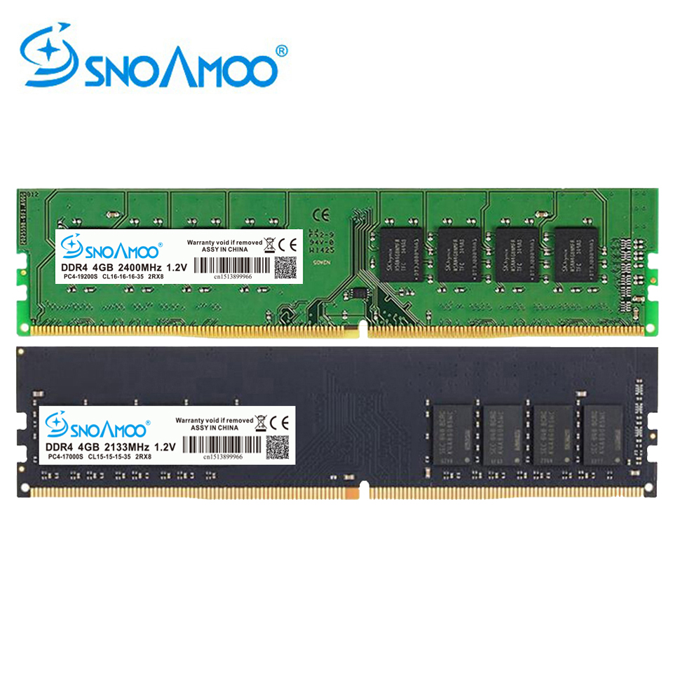SNOAMOO New Desktop PC DDR4 8GB 2133-2400MHz CL15 PC4-17000S 1.2V 2Rx8 288-Pin DIMM For Intel Computer RAMs Lifetime Warranty