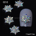 C212  10pcs/lot  Colorful Rhinestone Alloy Nail Decoration Girl Fashion Nail Jewelry Accessories