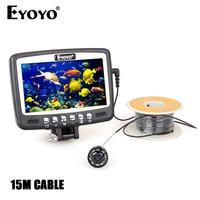 Eyoyo Original 1000TVL Underwater Ice Video Fishing Camera Fish Finder 15m Cable 4 3 Color LCD