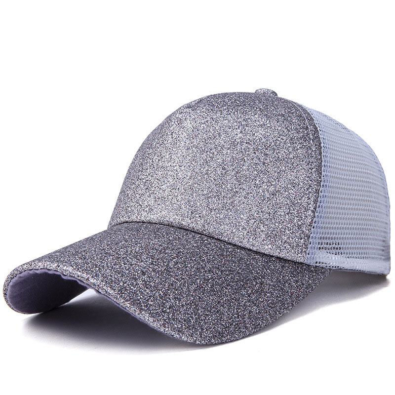 2019 <font><b>Glitter</b></font> <font><b>Ponytail</b></font> <font><b>Baseball</b></font> <font><b>Cap</b></font> <font><b>Women</b></font> Hat Cotton Messy Bun <font><b>Caps</b></font> Summer Snapback Dad Hats Girls Hip Hop <font><b>Caps</b></font> image