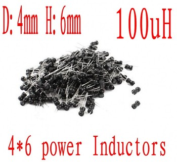 DIP Inductor 4*6mm 100uh 101 Radial Lead power Inductor 4mm*6mm 100UH 1000pcs/lot